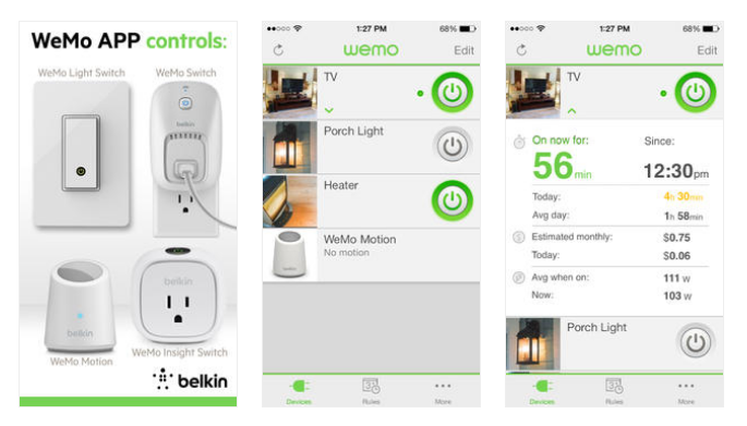 WeMo-App-screenshots